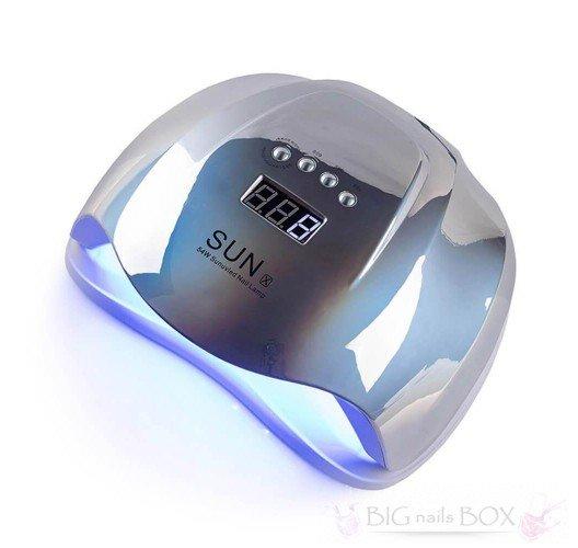 Sun X 54 ВТ (дзеркально-сіра) Holographic Uv-Led лампа для маникюра