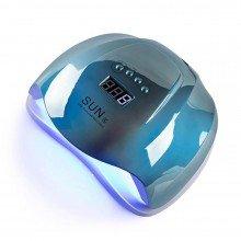 Sun X 54 ВТ (дзеркально-блакитна) Holographic Uv-Led лампа для маникюра