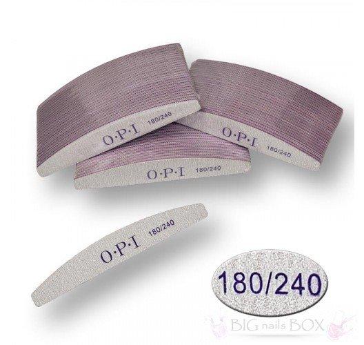 Пилка для нігтів OPI - півколо, 180/240