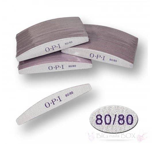 Пилка для ногтей OPI - полукруг, 80/80