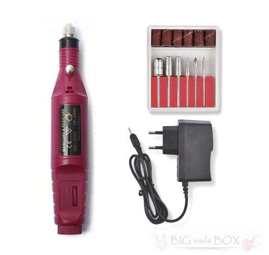 Фрезер-ручка (рожева) для апаратного манікюру 20 000 обертів