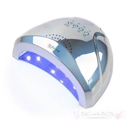 Sun One 48 вт (зеркально-голубая) Holographic Uv-Led лампа для маникюра