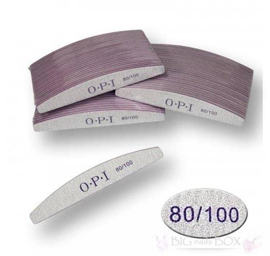 Пилка для нігтів OPI - півколо, 80/100