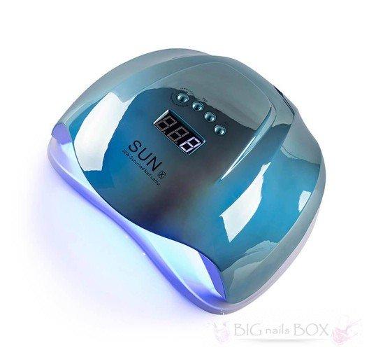 Sun X 54 ВТ (зеркально-голубая) Holographic Uv-Led лампа для маникюра