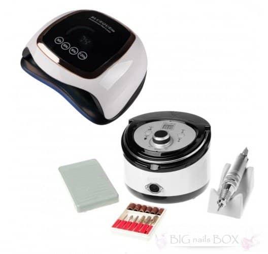 Набір для манікюру з фрезером ZS-606 65Вт / 45тис обертів і лампою Sun BQ-V3 168вт