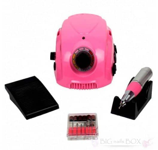 Фрезер Nail Drill DM-212 (розовый) 35000 оборотов для аппаратного маникюра