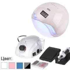 Набір для апаратного манікюра з лампою Sun 5 і фрезером DM-212