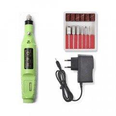 Фрезер-ручка (зелёная) для аппаратного маникюра 20 000 оборотов