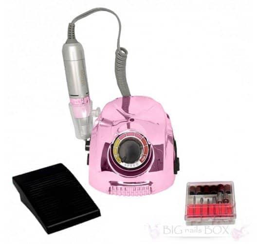 Фрезер Nail Drill DM-212 (зеркально-розовый) 35000 оборотов для аппаратного маникюра