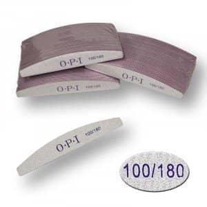 Пилка для ногтей OPI - полукруг, 100/180