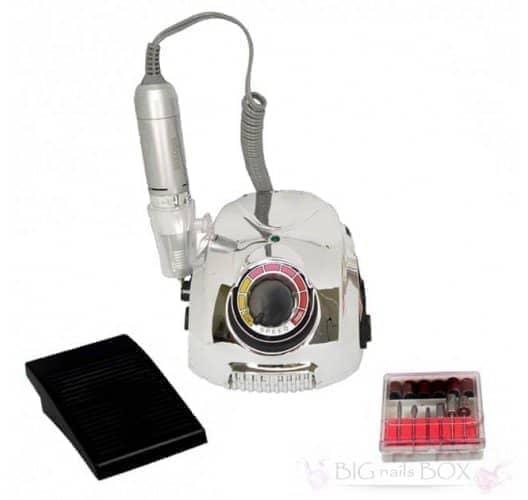 Фрезер Nail Drill DM-212 (зеркально-серый) 35000 оборотов для аппаратного маникюра