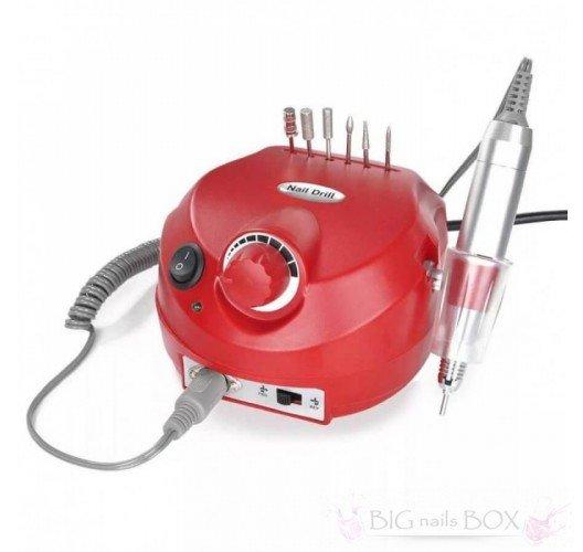 Фрезер Nail Drill DM-202 (червоний) 35000 обертів для апаратного манікюру