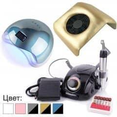 Набор для мастера маникюра с лампой Sun 5, фрезером DM-212 и вытяжкой