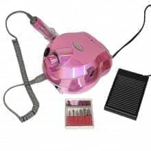 Фрезер Nail Drill DM-202 (зеркально-розовый) holographic 35000 оборотов