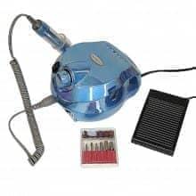 Фрезер Nail Drill DM-202 (зеркально-голубой) holographic 35000 оборотов