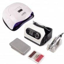 Набір для манікюру з фрезером ZS-717 65Вт/45тис оборотів і лампою Sun X plus 80Вт