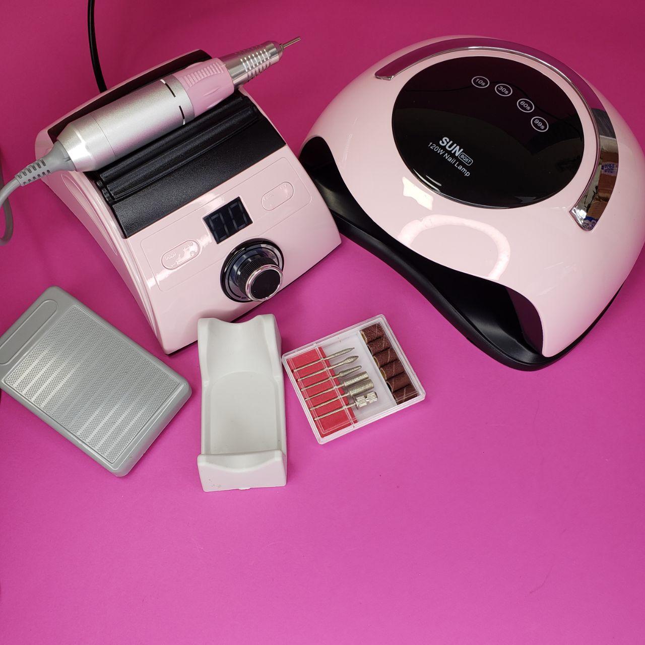 Набір для манікюру з фрезером ZS-710 65Вт / 45тис обертів і лампою SUN BQ-5T 120Вт